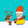 Santa Claus on a Sleigh Coloring